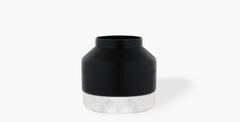 Cotes Vessel - Black on White Marble