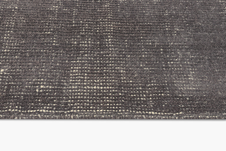 Distressed Wool Rug – Charcoal - color option