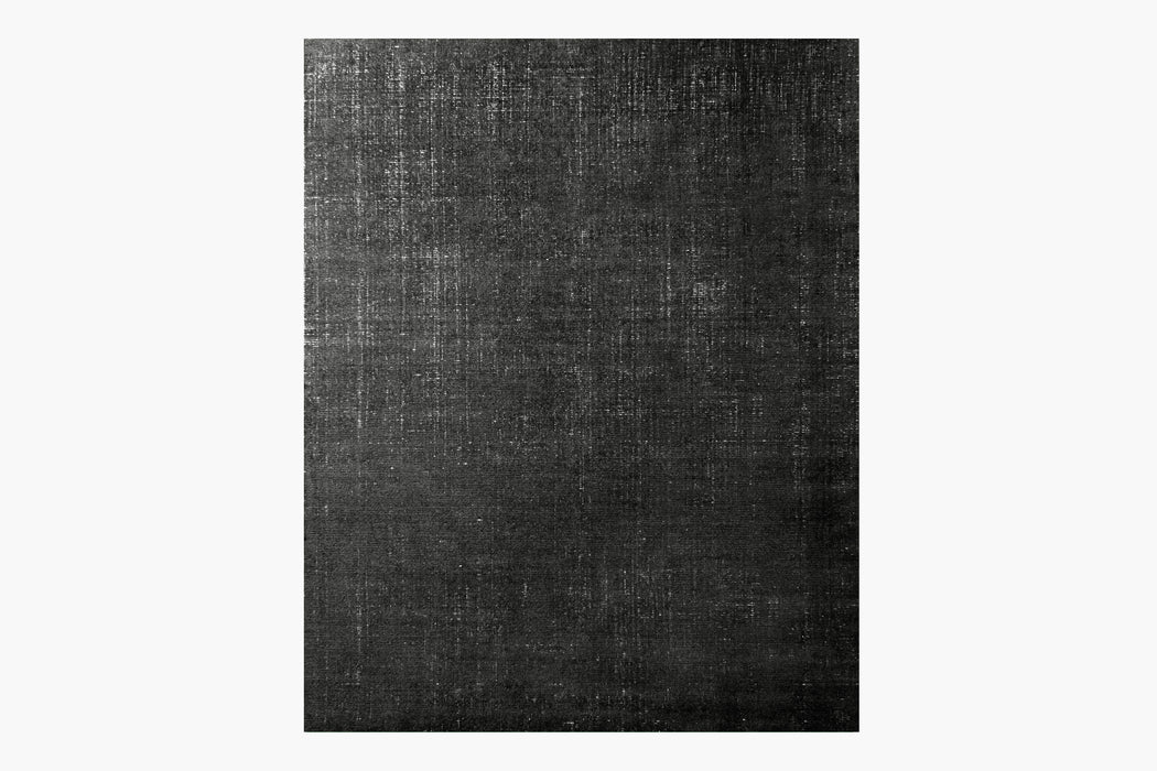 Distressed Wool Rug – Black