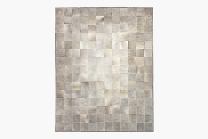 South American Cowhide Tile Rug – Steel
