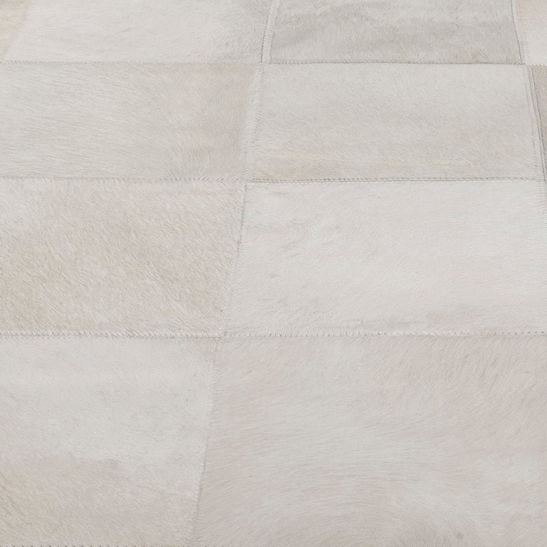 South American Cowhide Tile Rug – Ivory - color option