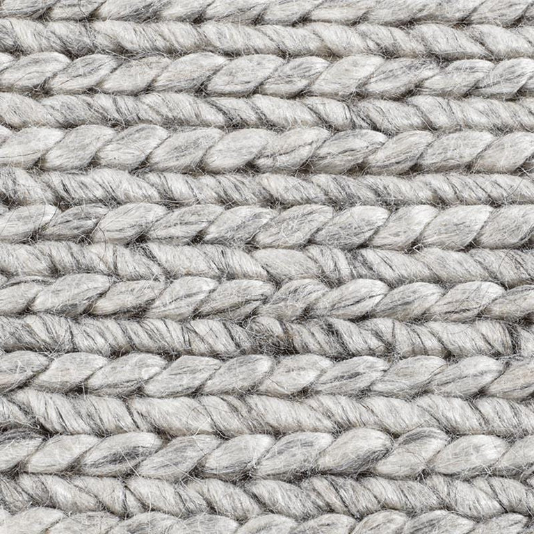 Braided Wool Rug – Fog - color option
