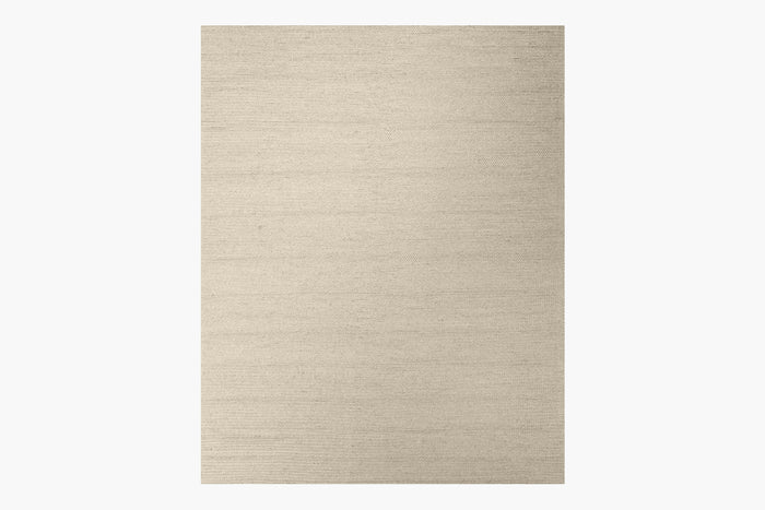 Braided Wool Rug – Cream