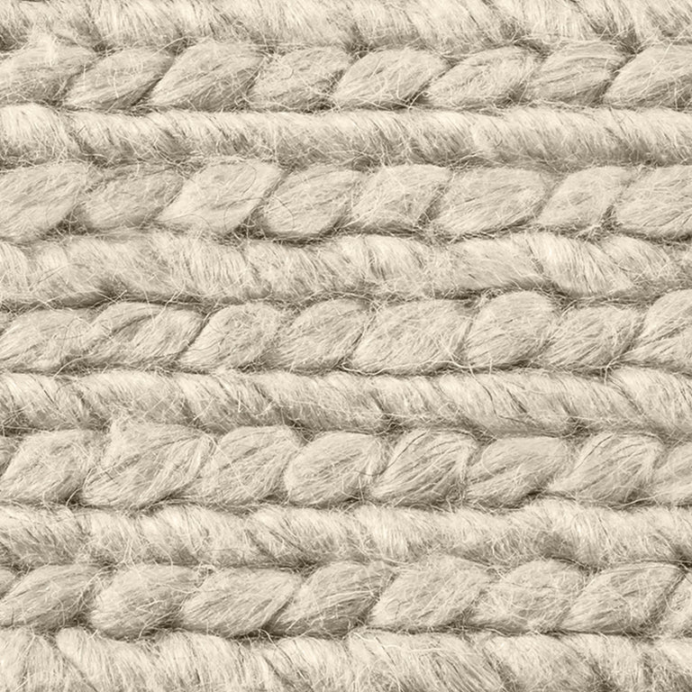 Braided Wool Rug – Cream - color option