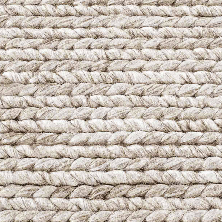 Braided Wool Rug – Marled - color option