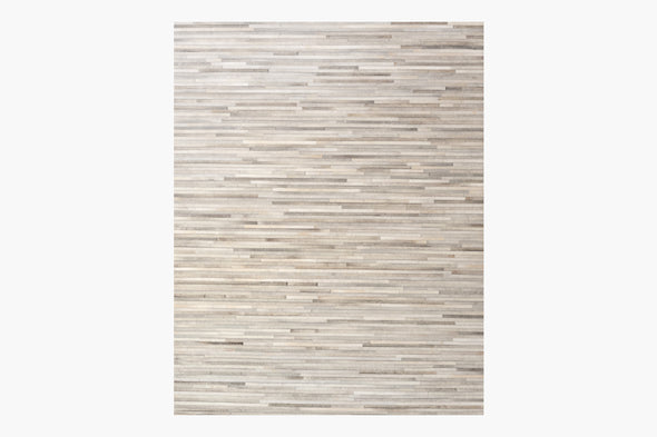 Ben Soleimani South American Cowhide Stripe Rug – Steel
