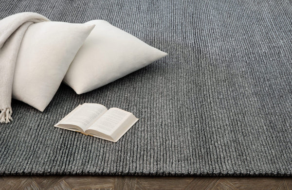 Contemporary 6x9 Area Rug Shaded Loop Grey Product Image