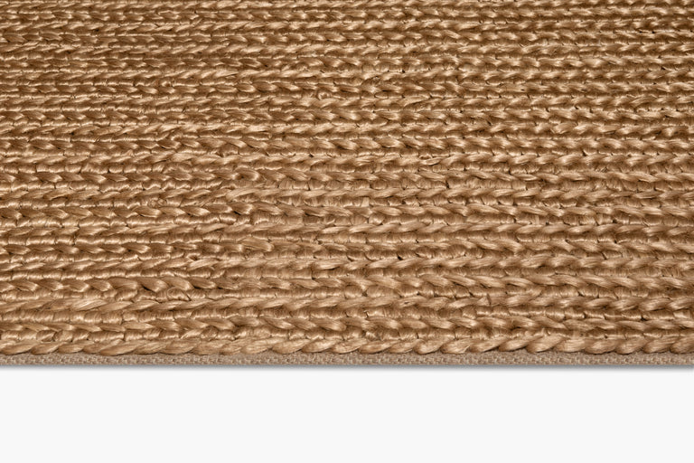 Chunky Hand-Braided Jute Rug – Honey - color option