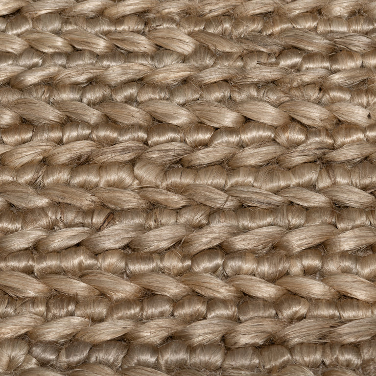 Chunky Hand-Braided Jute Rug – Linen - color option