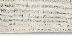 Distressed Wool Rug – Ivory / Charcoal