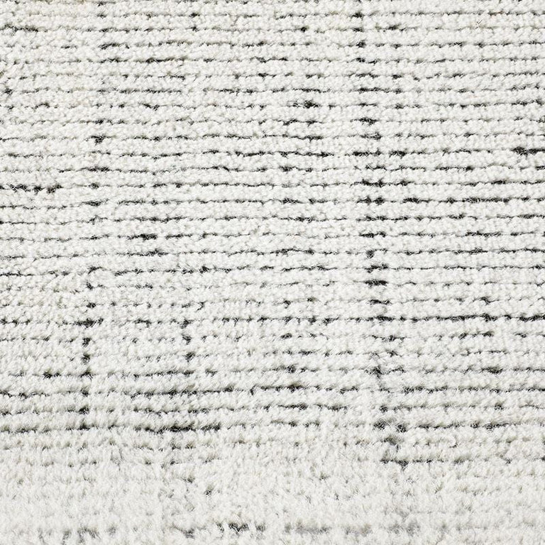 Distressed Wool Rug – Ivory / Charcoal - color option