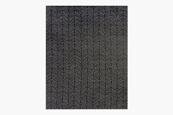 Contemporary Geometric Tibetan 9x12 Area Rug Alia Black / Grey Product Image