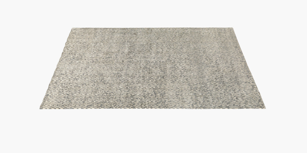 Metallic Zia Rug – Grey / Gold