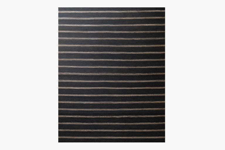 Lenia Rug – Black / Natural