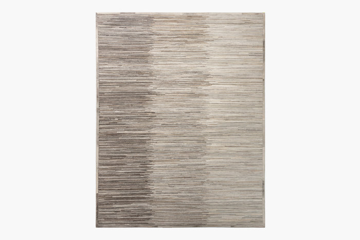 Ombre Hide Rug – Steel