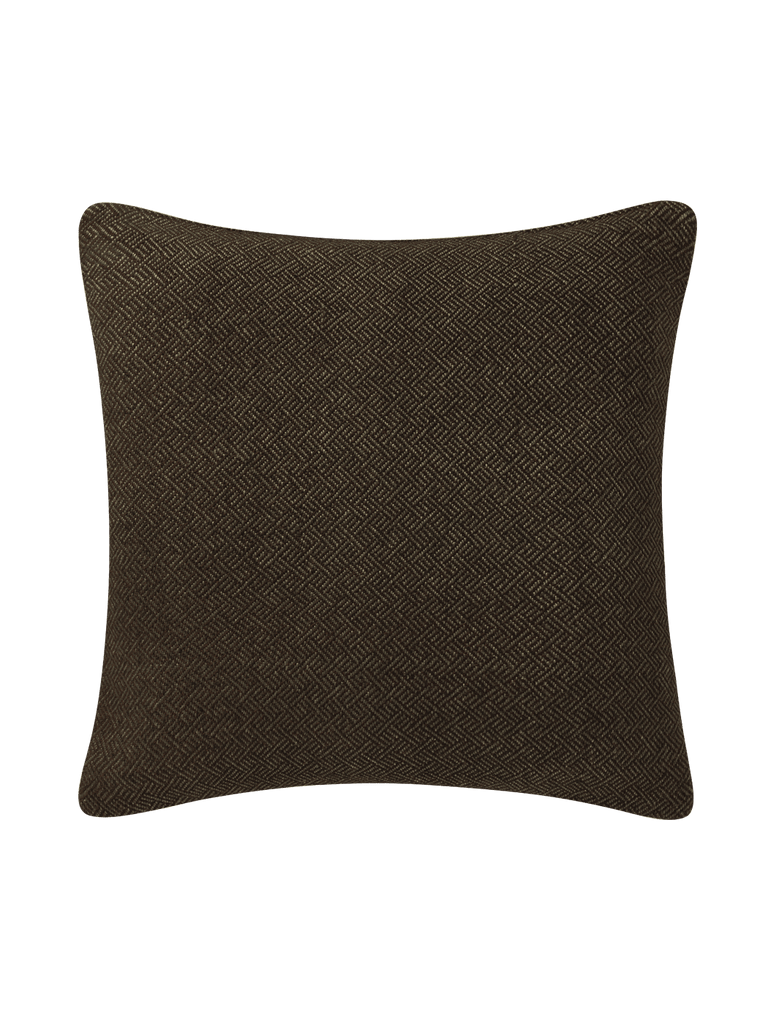 Angled Diamond Pillow Cover - Espresso - color option
