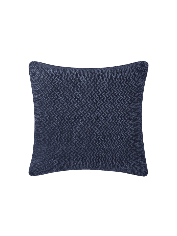 Angled Diamond Pillow Cover - Navy