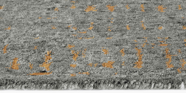 Azar Rug – Dark Grey / Gold - color option