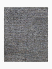 Chunky Hand–Braided Jute Rug – Navy / Grey