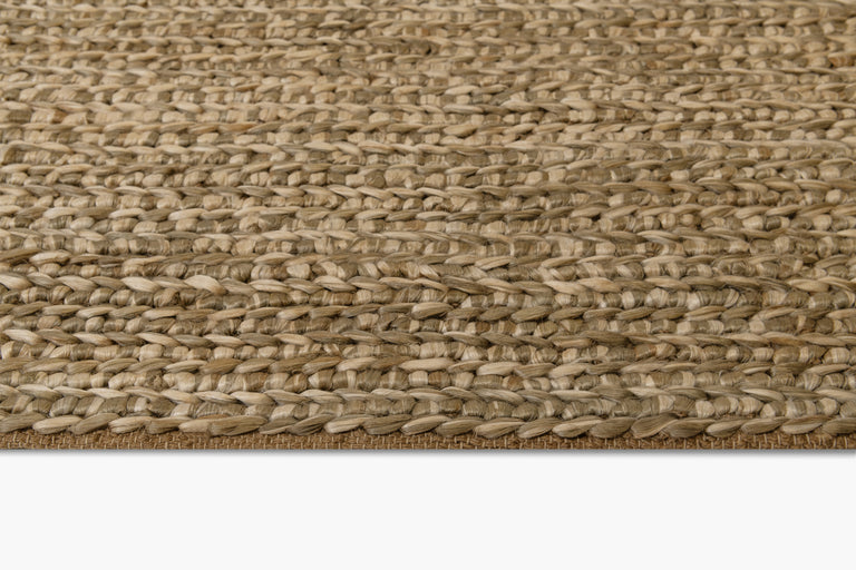 Chunky Hand-Braided Jute Rug – Ivory / Silver - color option