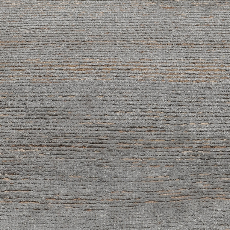 Ribbed Silk and Nettle Rug – Wolf - color option