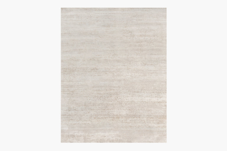 Ribbed Silk and Nettle Rug – Heather