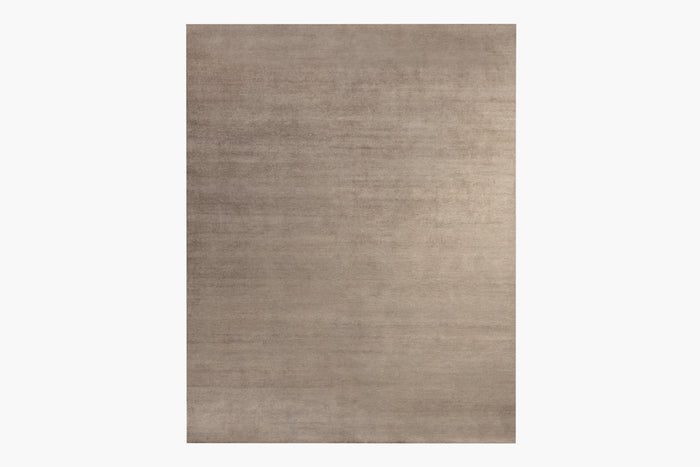 Ribbed Silk and Nettle Rug – Truffle