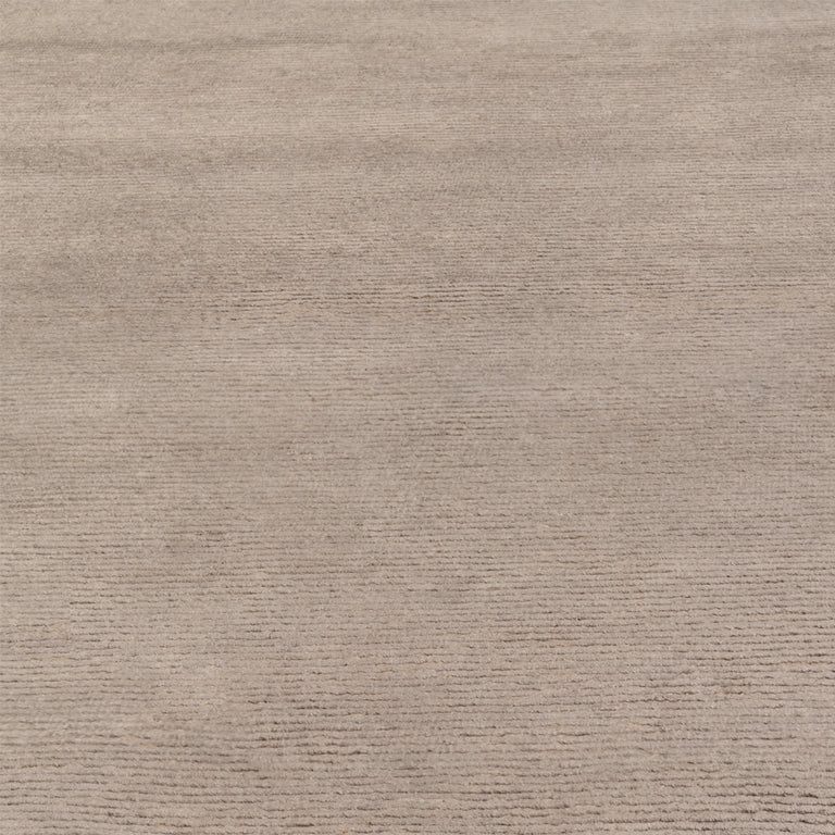 Ribbed Silk and Nettle Rug – Truffle - color option
