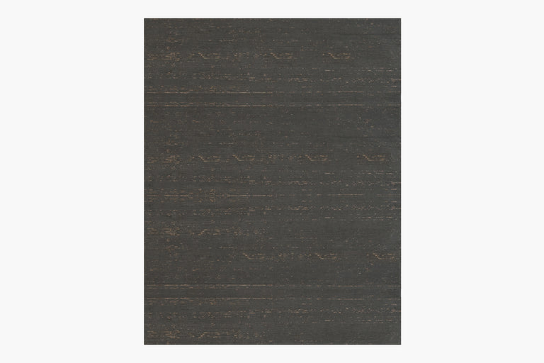 Ribbed Silk and Nettle Rug – Lead
