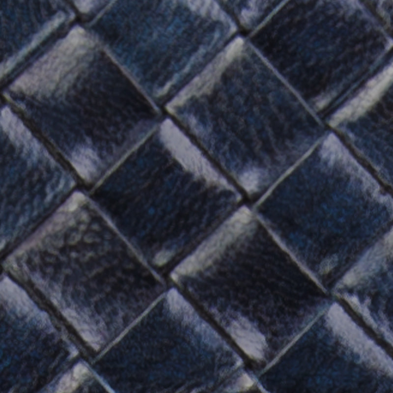 Woven Leather | Sapphire