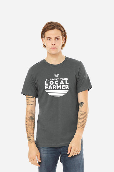 Local Farmer Adult Tee-Slate Grey