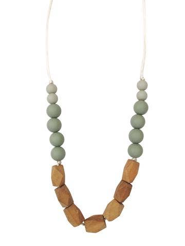 The Harrison Teething Necklace - Succulent