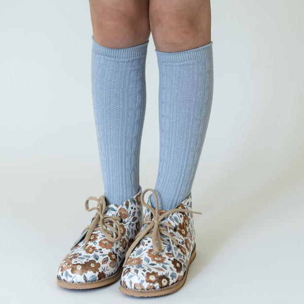 Powder Blue Knee High Socks