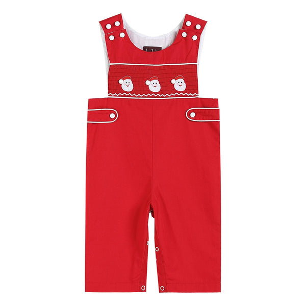 Mr. Claus Smocked Overalls