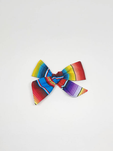 Fiesta Strip Bow on Nude Headband