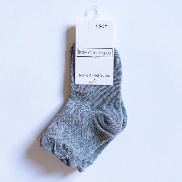 Gray Anklet Socks