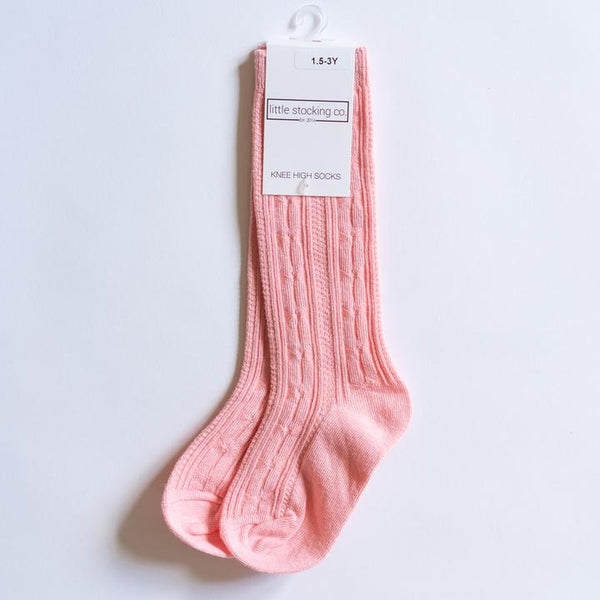 Carnation Pink Knee High Socks