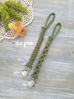 Macrame Pacifier Clips (Assorted Colors)