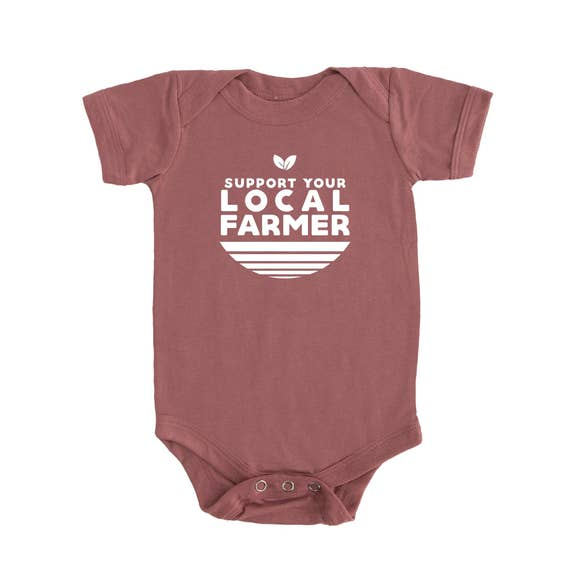 Local Farmer Onesie-Mauve