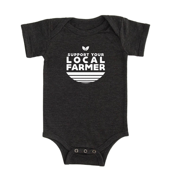 Local Farmer Onesie-Dark Grey