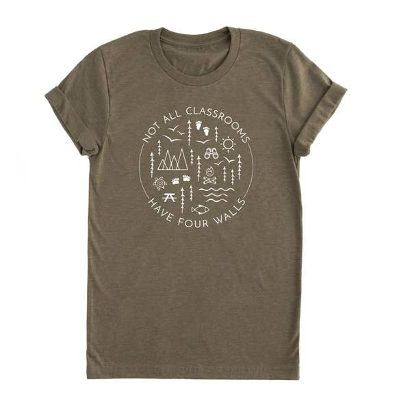 Four Walls Adult Tee-Olive