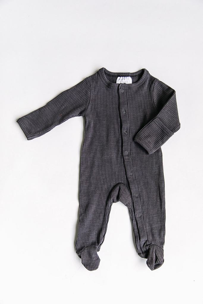 Steel Ribbed Footed One-piece