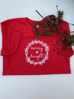 """Merry & Bright"" Adult Tee"