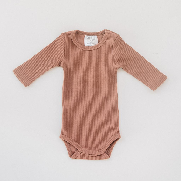 Ribbed Blush Bodysuit