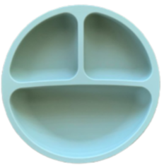 Silicone Toddler Plate-Moss