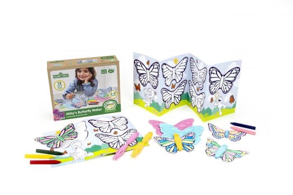 Abby's Butterfly Maker Coloring Activity Set