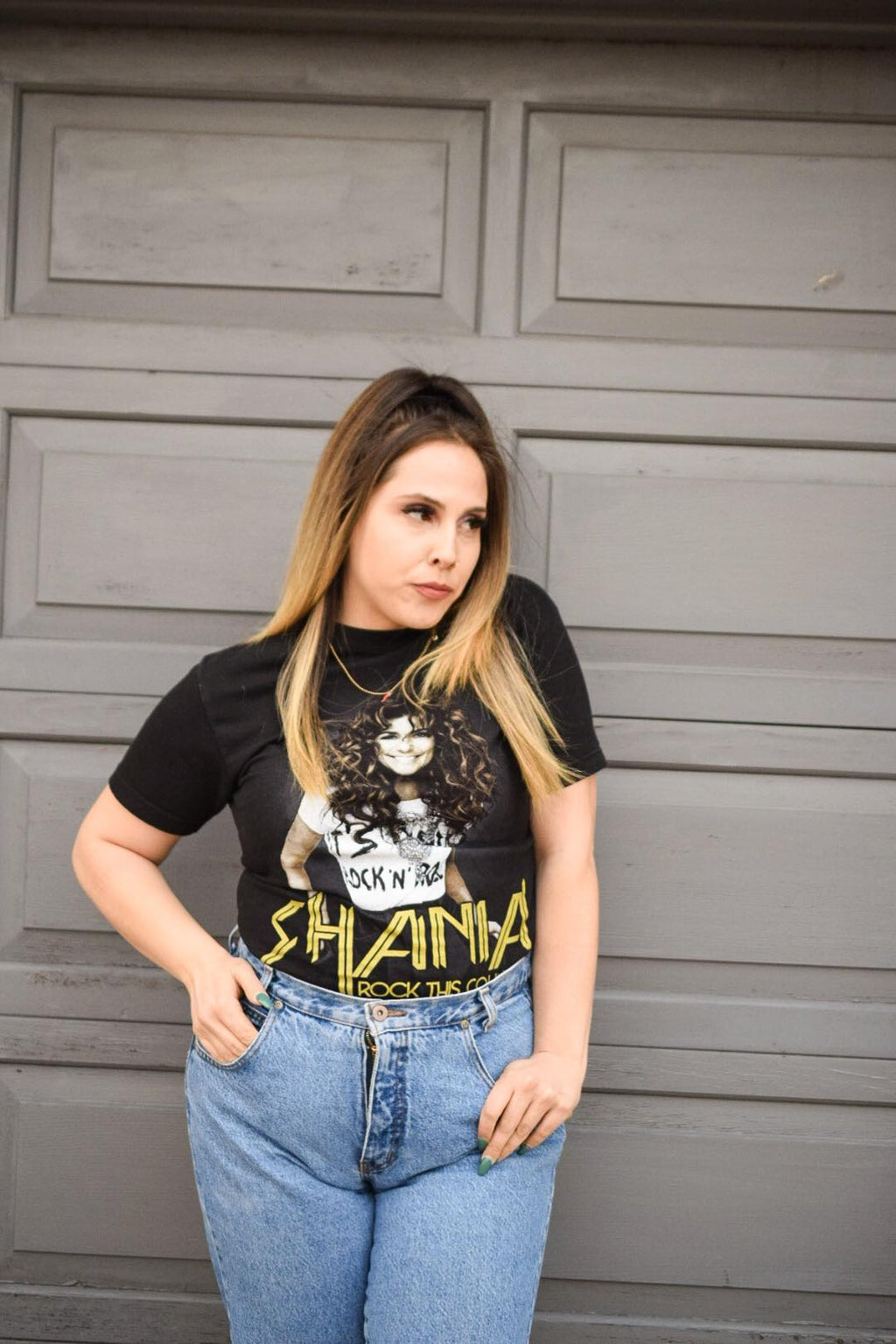 "Shania Twain ""Rock this Country"" Tour Tee-Upcycled Apparel-The Mix HamOnt"