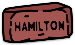 Hamilton Brick Sticker/Magnet - Merch - The Mix HamOnt