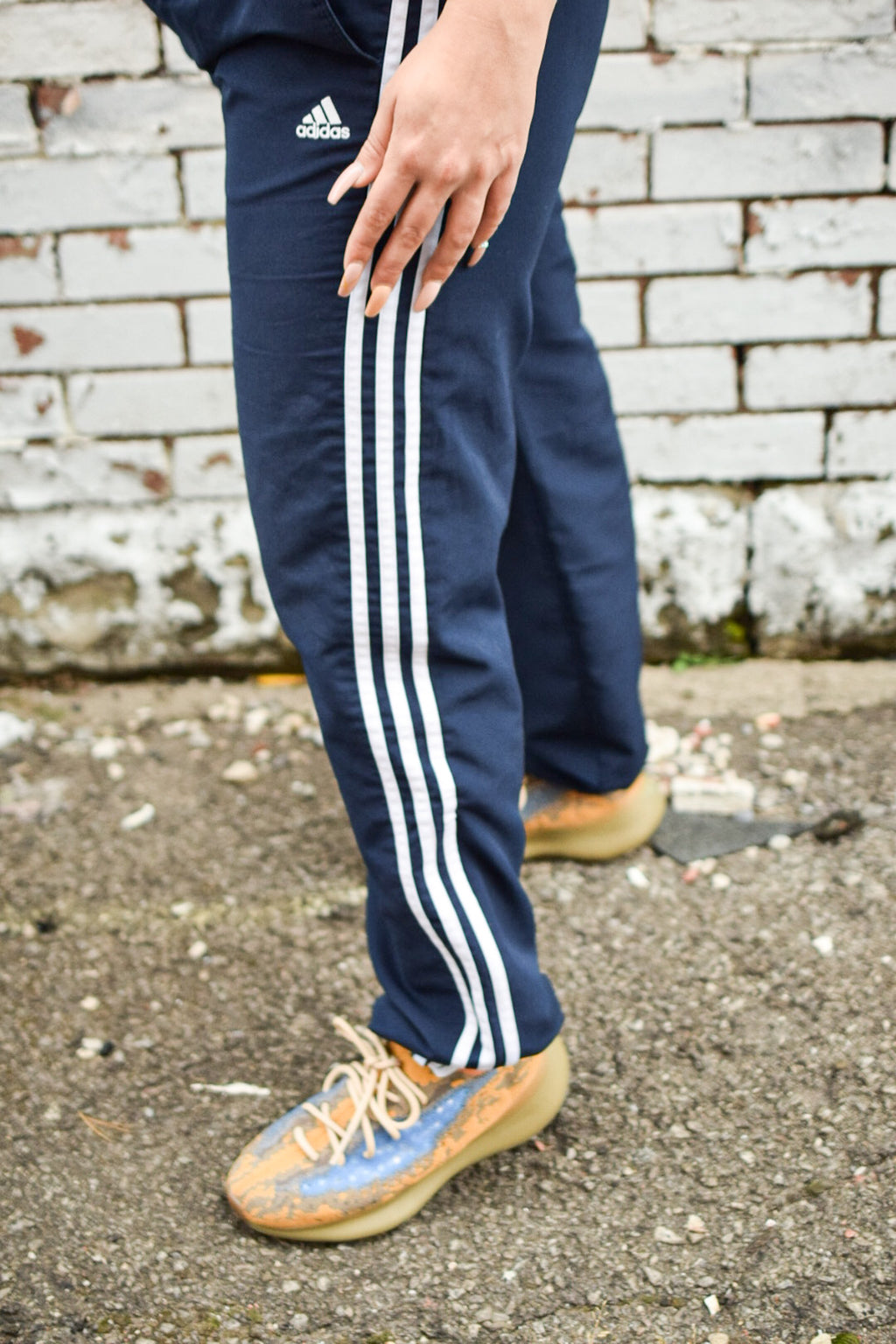 Adidas Athletic Swishy Pants-Upcycled Apparel-The Mix HamOnt