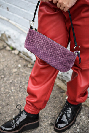 Throwback Purple Shoulder Bag-Upcycled Accessories-The Mix HamOnt